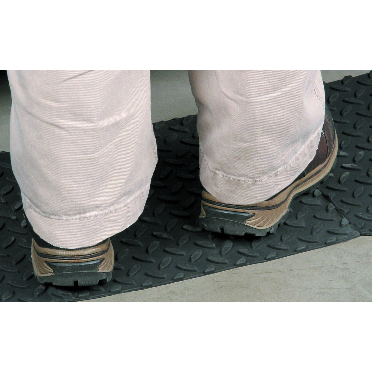 WESTERN SAFETY 12 in. x 12 in. Self-Adhesive Rubber Safety Mat with Tread Surface - Item 98858 ...