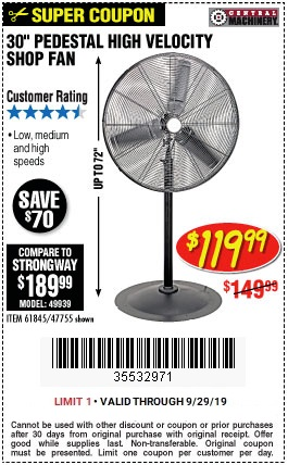 Get a 30-Inch High Velocity Shop Fan for Just $119.99 ...