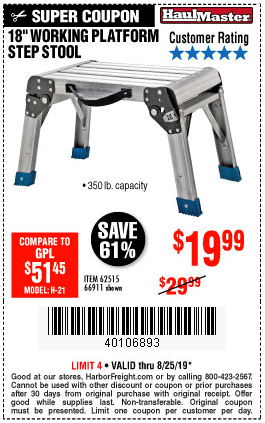 Buy An 18 Inch Step Stool For Only 19 99 Harbor Freight
