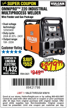 Buy the Vulcan Omnipro Welder for $879.99