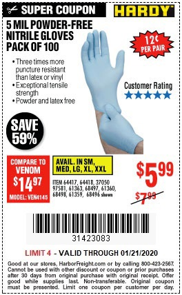 Just $5.99 for a 100-Pack of Disposable Nitrile Gloves