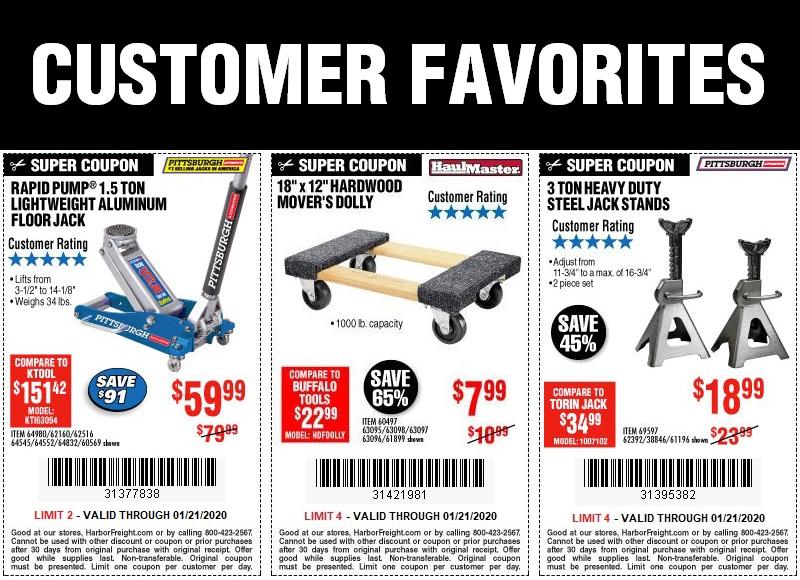 Save Big on Customer Favorites, Now Through January 21, 2020