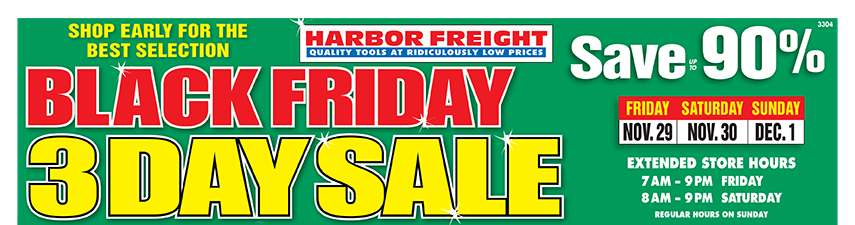 Black Friday 2019 at Harbor Freight