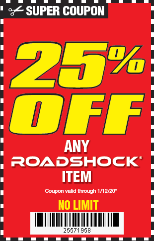 25 Off Any Roadshock Led Light Harbor Freight Coupons