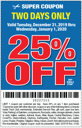 New Year S Sale Harbor Freight Coupons