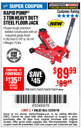 3 Ton Heavy Duty Rapid Pump® Floor Jack