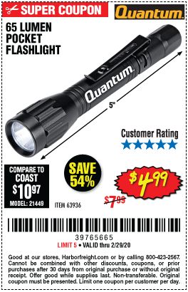 65 Lumen Pocket Flashlight