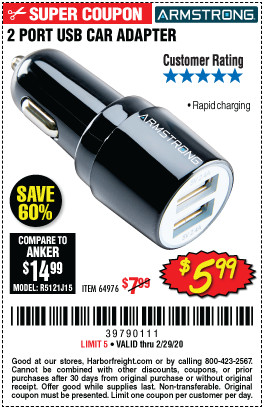Two Port USB Car Charger