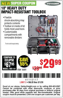 18 in. Heavy Duty Impact-Resistant Toolbox