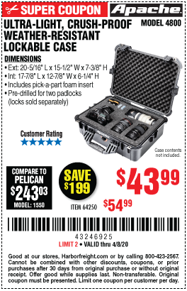 Great Deals on Apache Portable Storage! – Harbor Freight ...