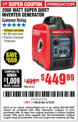 Great Deals On Predator Power Equipment Harbor Freight Coupons