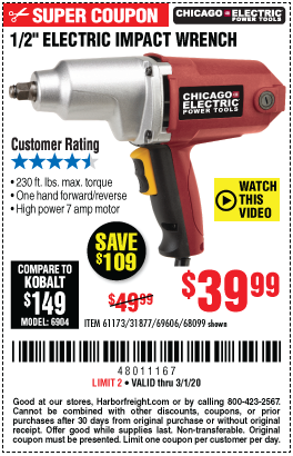 7A 1/2 in. Impact Wrench