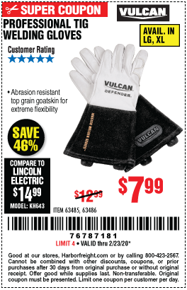 Professional TIG Welding Gloves - L