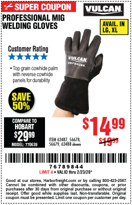 Professional MIG Welding Gloves - L