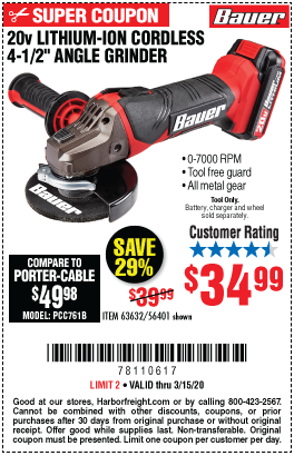 20V Hypermax™ Lithium 4-1/2 in. Cordless Angle Grinder - Tool Only
