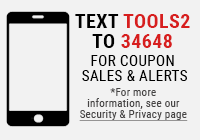 Text TOOLS2 to 34648 for sales and alerts