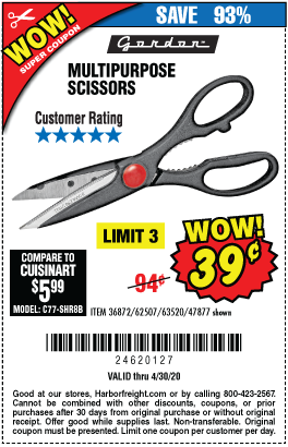 Multipurpose Scissors for 39 Cents