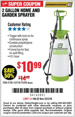 2 gallon Home and Garden Sprayer