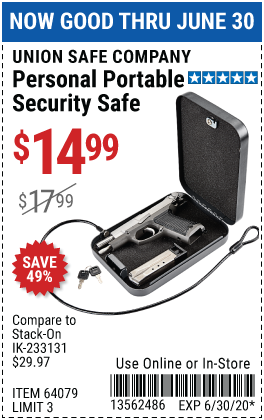 Personal Portable Security Safe