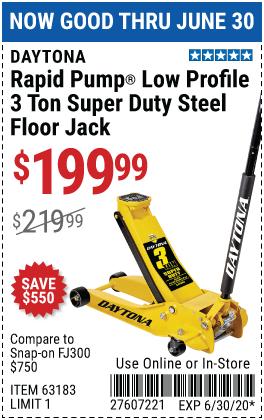 3 Ton Low Profile Super Duty Rapid Pump® Floor Jack