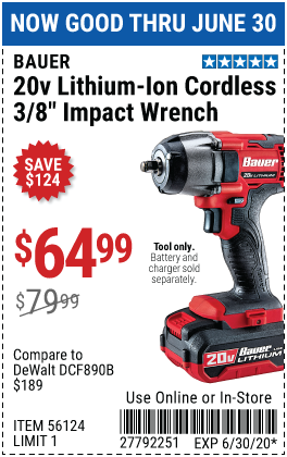 20V Hypermax™ Lithium-Ion Cordless 3/8 in.  Compact Impact Wrench - Tool Only