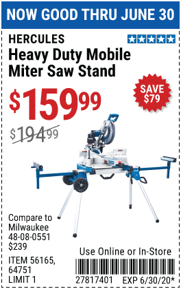 Professional Rolling Miter Saw Stand