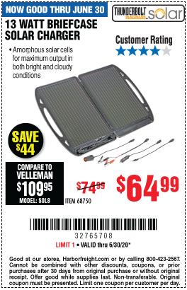 13 Watt Briefcase Solar Charger