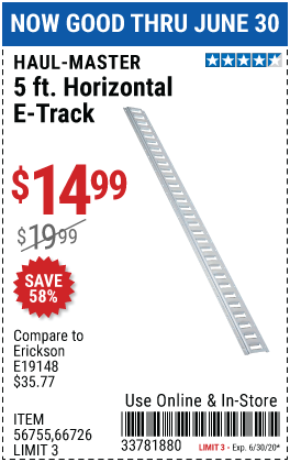 5 Ft. Horizontal E-Track