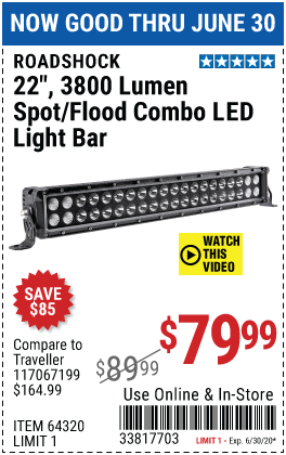 22 in. Spot/Flood Combo LED Light Bar