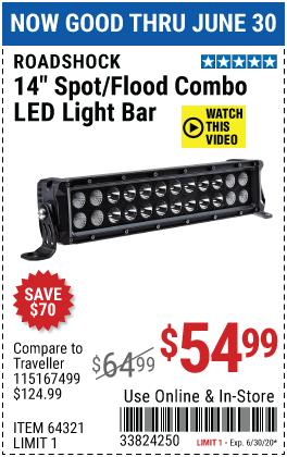 14 in. Spot/Flood Combo LED Light Bar