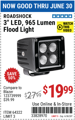3 in. LED Flood Light