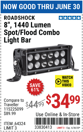8 in. Spot/Flood Combo LED Light Bar