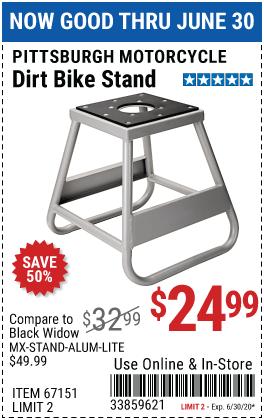 1000 Lb. Capacity Dirt Bike Stand