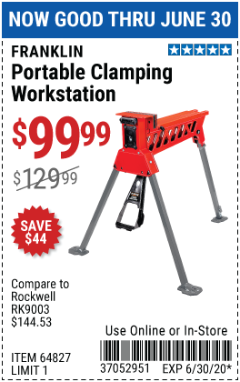Hands-Free Portable Workstation with 1 Ton Clamping Force
