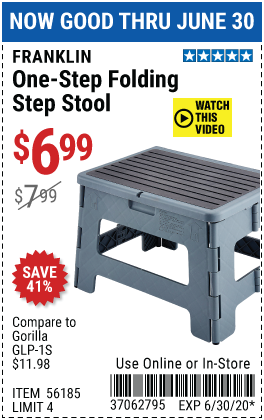 One-Step Folding Stool