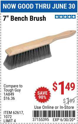 7 In. Bench Brush