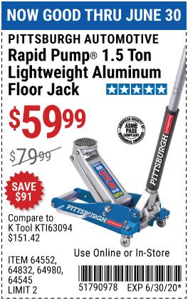 1.5 Ton Aluminum Rapid Pump® Racing Floor Jack