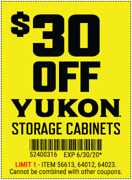 $30 OFf Yukon Storage Cabinets