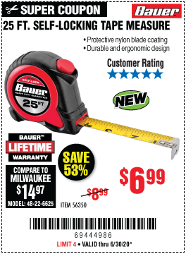 25 ft. Self-Locking Tape Measure