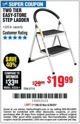 Two Tier Easy-Store Step Ladder