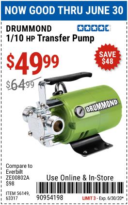 1/10 HP Transfer Pump 320 GPH