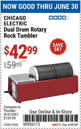 Dual Drum Rotary Rock Tumbler