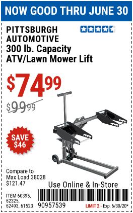 300 lb. ATV/Lawn Mower Lift