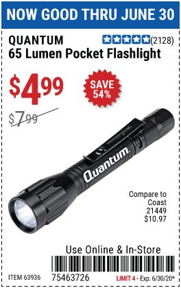 65 Lumen Pocket Flashlight