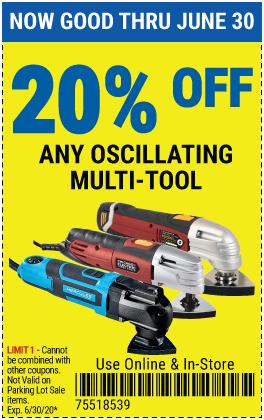 20% off Oscillating Multi-Tools (4 skus)