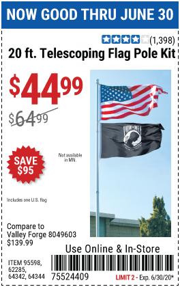 20 Ft. Telescoping Flag Pole Kit