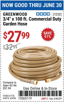 3/4 in. x 100 ft. Commercial Duty Garden Hose