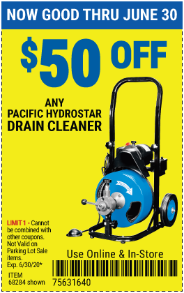 $50 off Any Hydrostar Drain Cleaner (2 skus)
