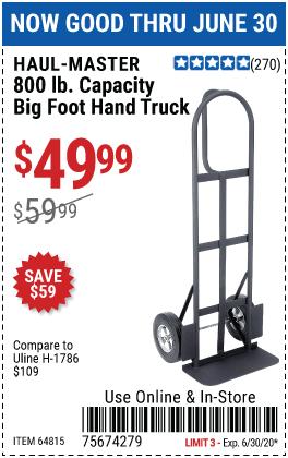 800 lb. Capacity Heavy Duty Hand Truck