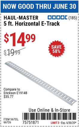 5 Ft. Horizontal E-Track
